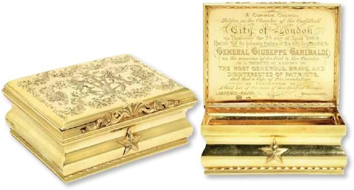 Ornate gold box
