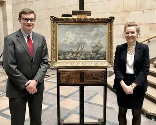 James Ratcliffe and Katya Hills of the Art Loss Register