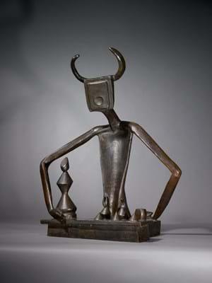 Bronze sculpture by Max Ernst
