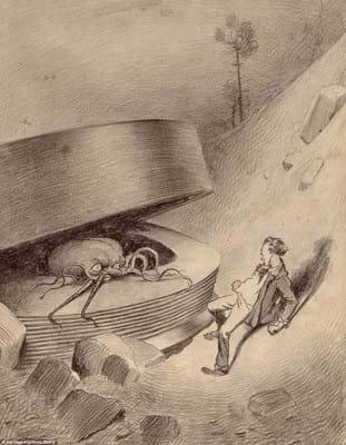 HG Wells' 'War of the Worlds' illustration