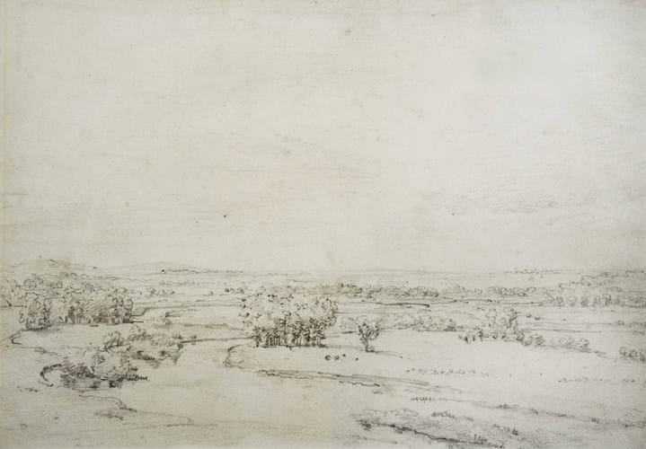 Drawing of The Thames by John Constable