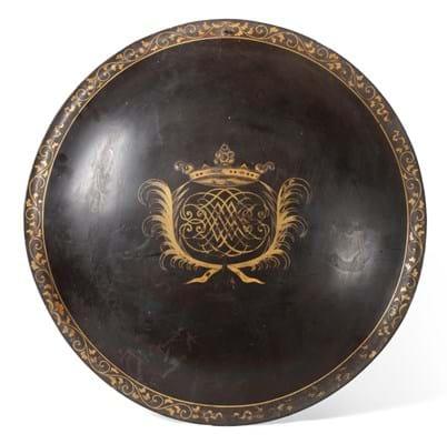 Edo Period black lacquer shield
