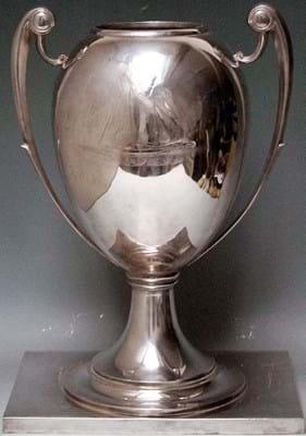 1930s silver trophy
