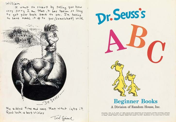 drawing by Theodor Geisel (Dr Seuss)