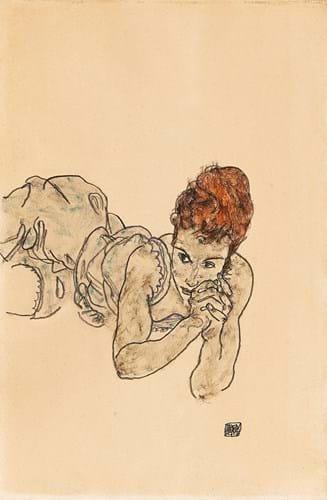 Liegende Frau by Egon Schiele