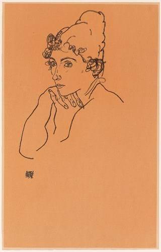 Frauenkopf by Egon Schiele