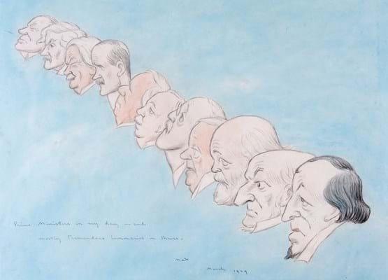 Max Beerbohm's original watercolour