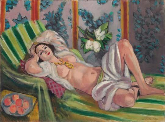 Odalisque couchée aux magnolias by Henri Matisse