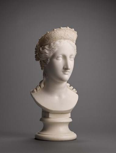 'Bust of Peace', a white marble head by Antonio Canova