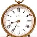 Great Western Railway brass cased drum clock