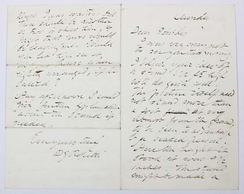 Dante Gabriel Rossetti letter
