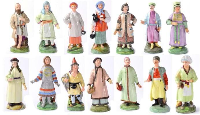 Russian porcelain figures