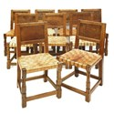 Mouseman oak chairs
