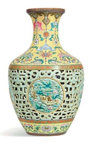 Yamanaka reticulated vase