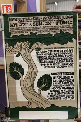 A poster for the Bath Festival of Blues and Progressive Music