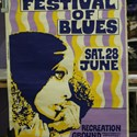 A poster for the Bath Festival of Blues