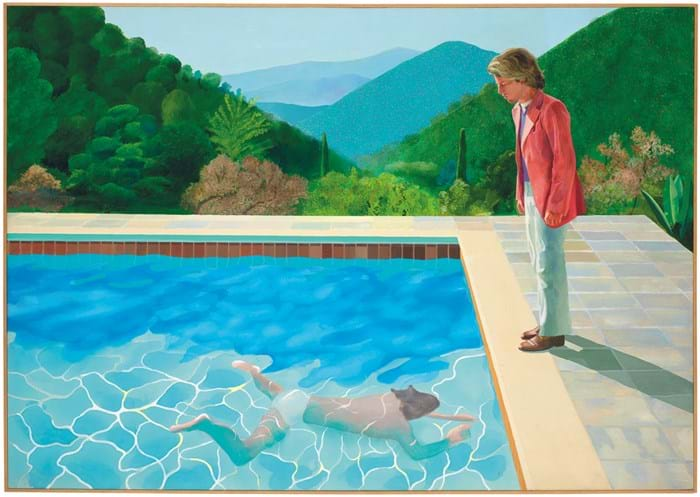 'Portrait of an Artist (Pool with Two Figures)' by David Hockney