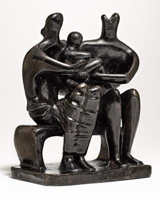 Henry Moore 'Family Group' maquette