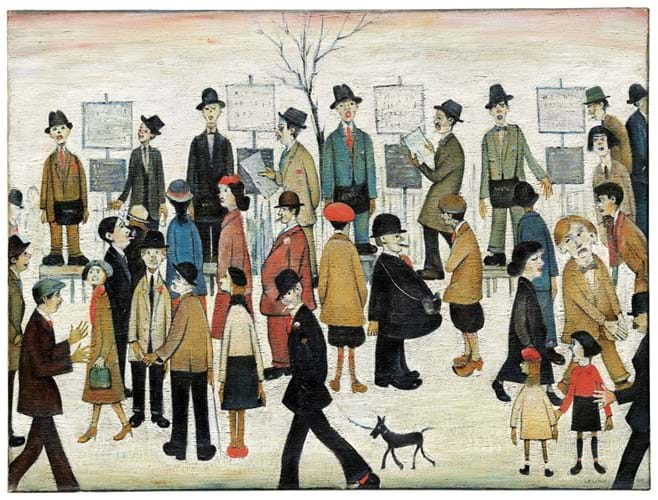 A Northern Race Meeting by LS Lowry