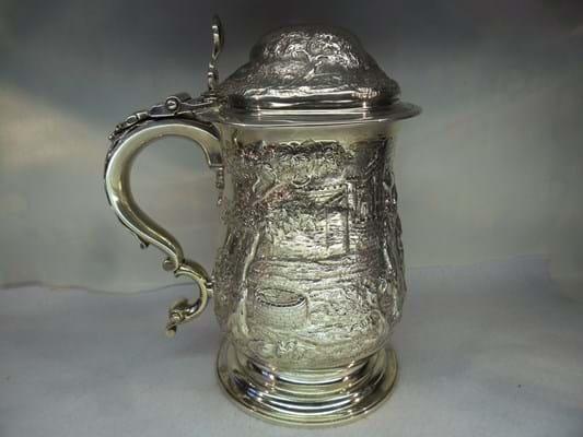 Greenfinch Antiques George III silver tankard