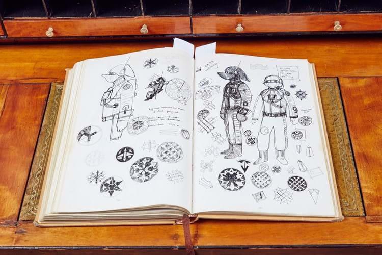 John Mollo's personal sketchbook for Star Wars