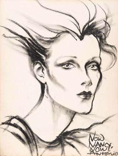 Antonio Lopez (1943 - 1987) Now Nancy Now, 1974 Charcoal on Paper, signed & inscribed, Provenance Nancy North Private Collection, 65 x 49 cms £6,000 (1).jpg