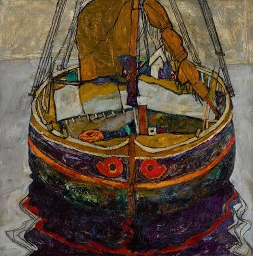 'Triestiner Fischerboot' by Egon Schiele