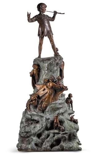 Bronze cast of Peter Pan by George Frampton