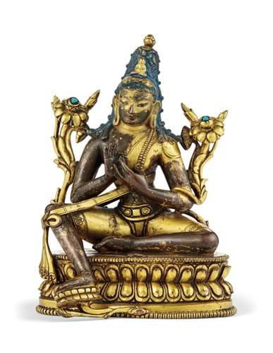 Gilt bronze figure of Padmapani Lokeshvara
