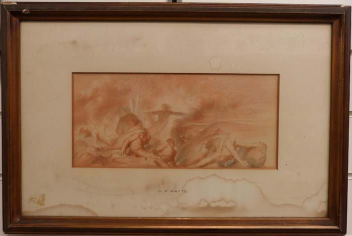 Sketch attributed to George Frederick Watts