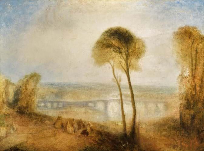 'Landscape with Walton Bridges' by JMW Turner
