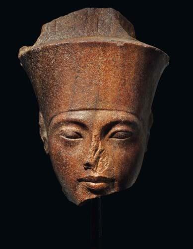 Tutankhamun head at Christie's