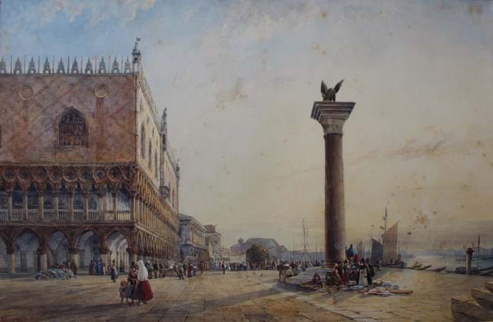 Venice watercolour by William Wyld