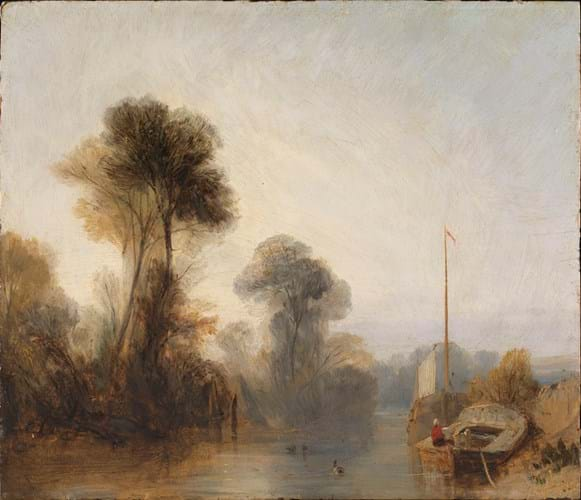 'View on the River Seine – Morning' by Richard Parkes Bonington