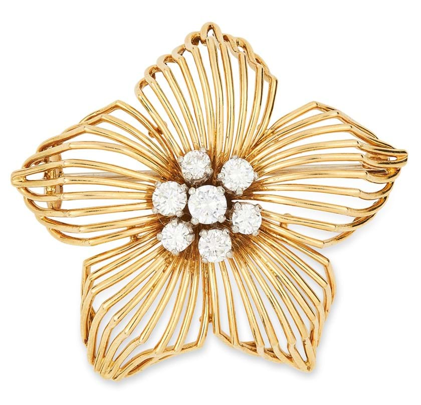 Cartier floral brooch