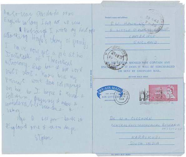 Stephen Hawking letter