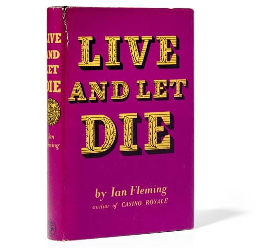 A first edition of Ian Fleming's 'Live and Let Die'