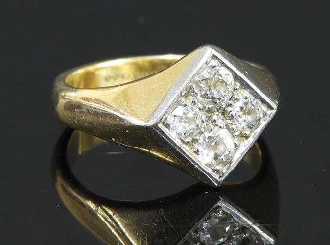 Diamond signet ring