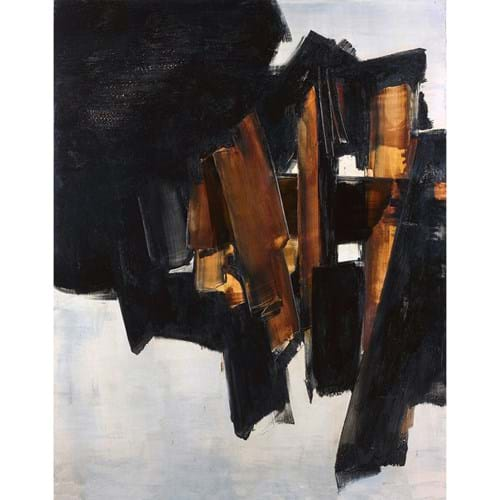 Pierre Soulages oil on canvas