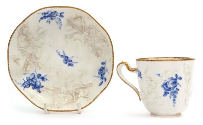 Vincennes porcelain cup and saucer