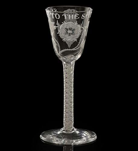 Jacobite wine glass
