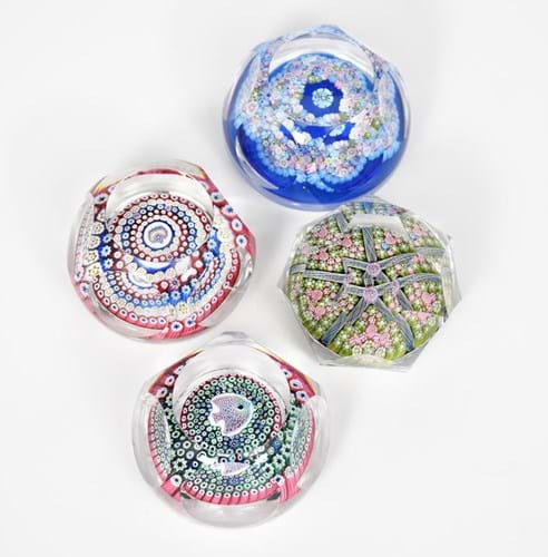 Whitefriars glass paperweights