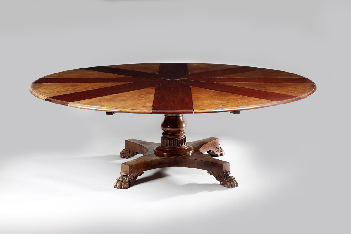 Pick Of The Week Ingenious Jupe S Expanding Dining Table Takes 80 000 In New Year Opener Antiques Trade Gazette