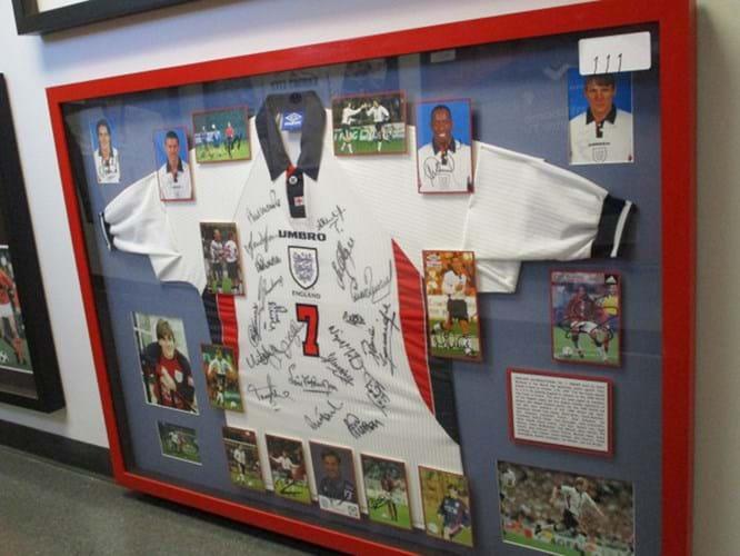 David Beckham shirt at auction
