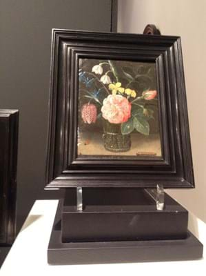 Old Master oil on copper flower painting