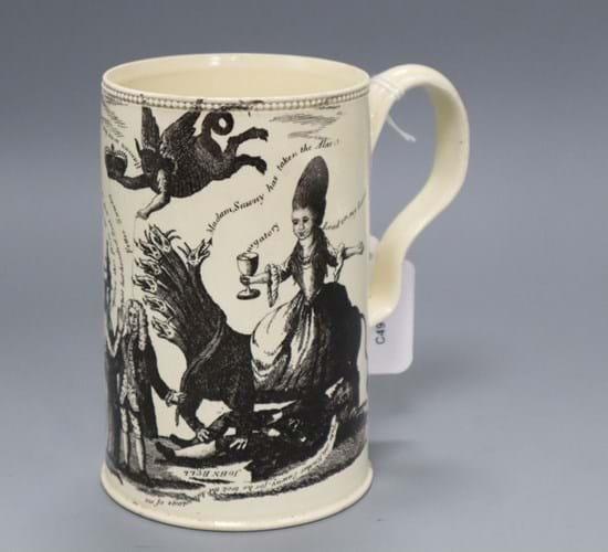 English creamware pottery mug
