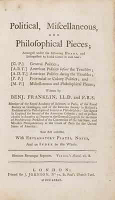 Benjamin Franklin first edition