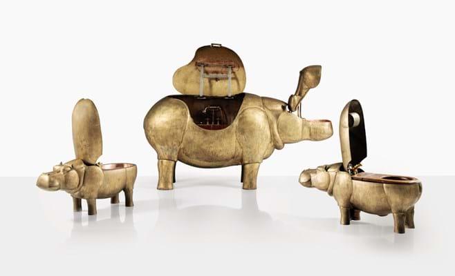 Lalanne, A Life-Size Family of Bronze Hippopatmuses. Sotheby's Paris, Design Sale June 2020.jpg