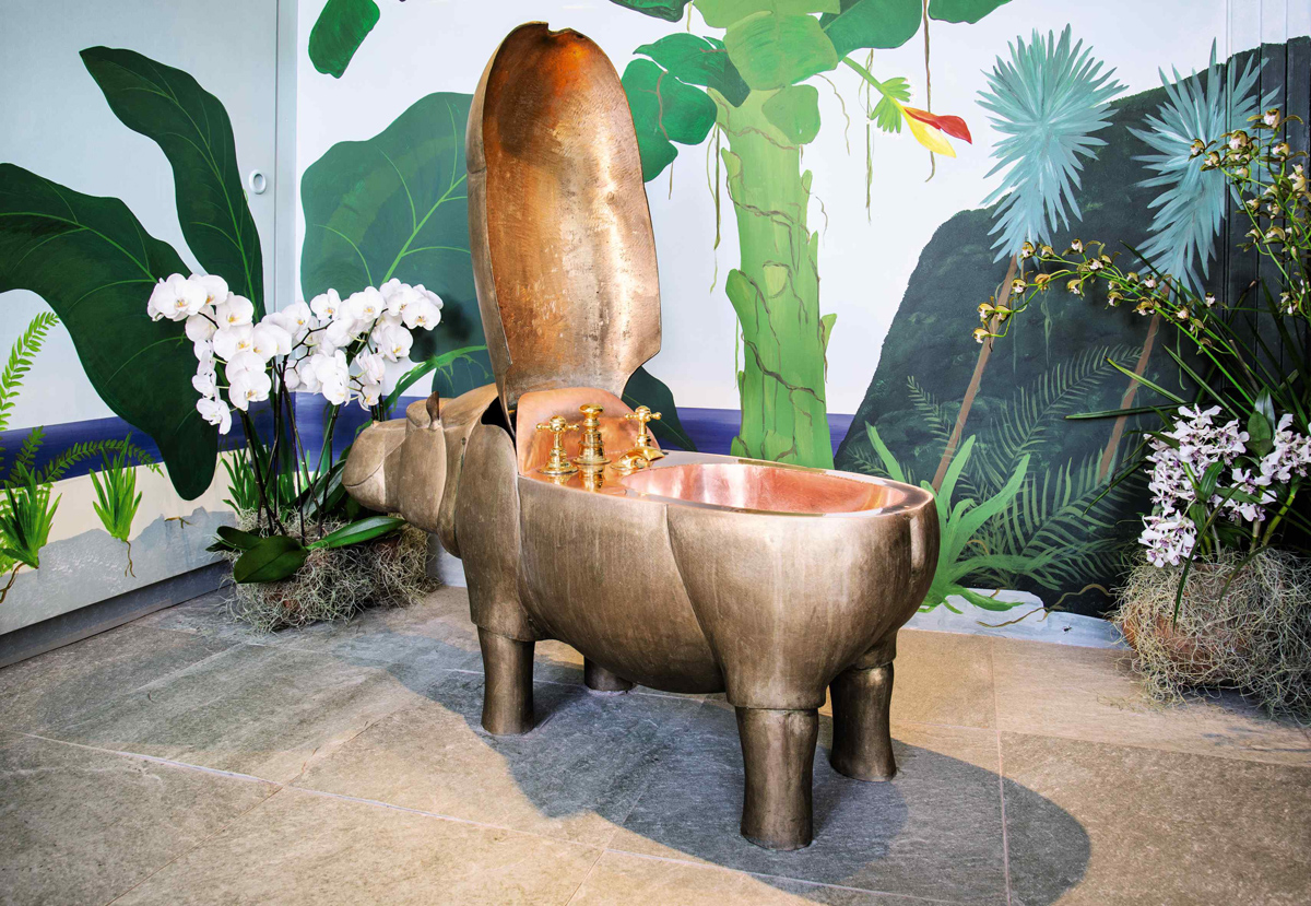 Hippo Bathroom Set By Francois Xavier Lalanne Scrubs Up Nicely For Sotheby S Paris Auction