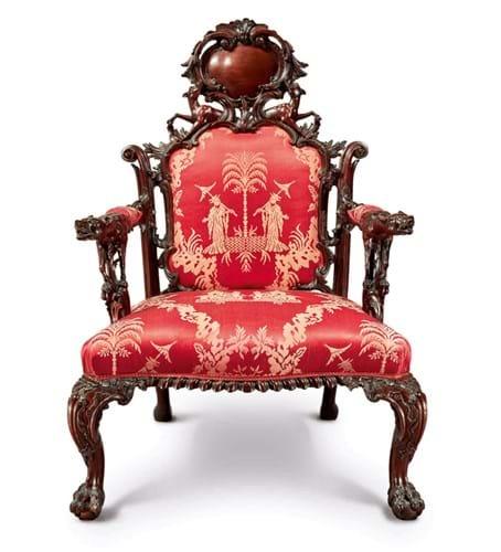 Mahogany master's chair